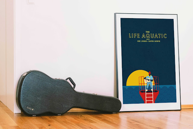The Life Aquatic Illustrated Art print