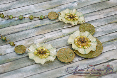 "Polymer clay jewelry ""Savannah"". Necklace."