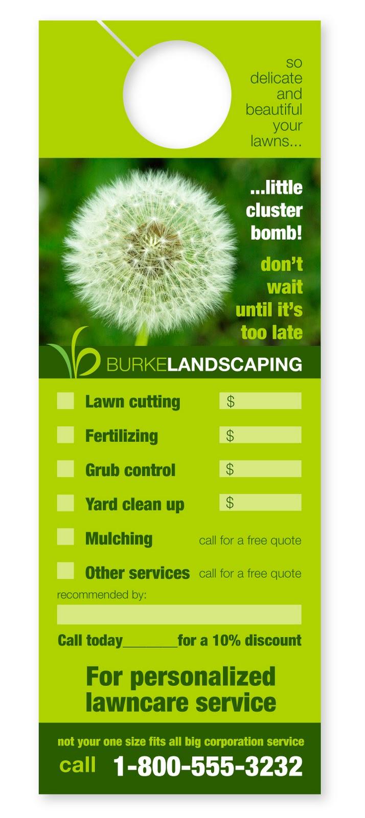 Landscape Door Hangers & Wellspring Landscape Services ...