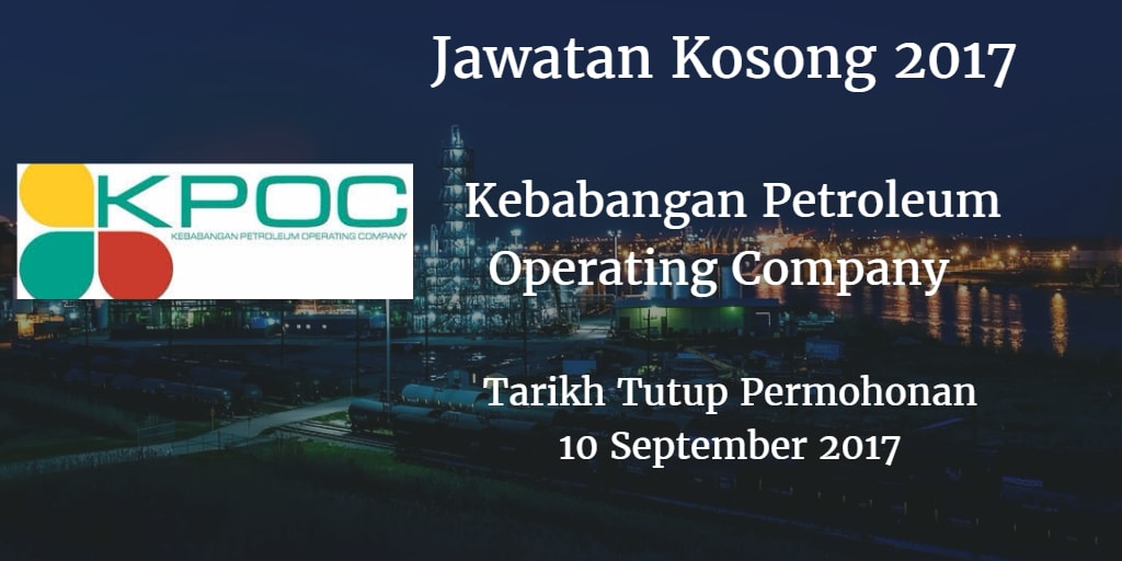 Jawatan Kosong Kebabangan Petroleum Operating Company 10 September 2017