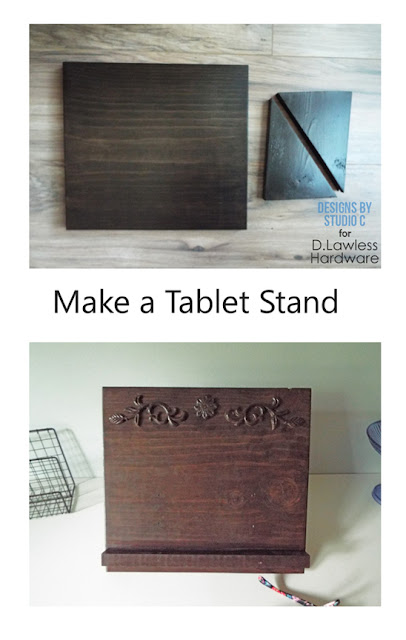 DIY tablet stand pin button