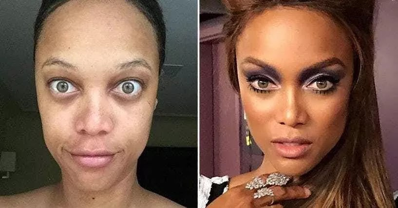 24 Pictures Of Famous Women With And Without Makeup