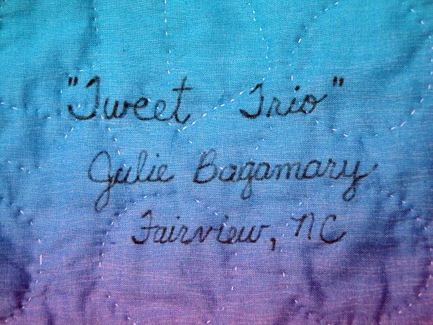 Julie Bagamary Art Asheville Quilt Show - Labels
