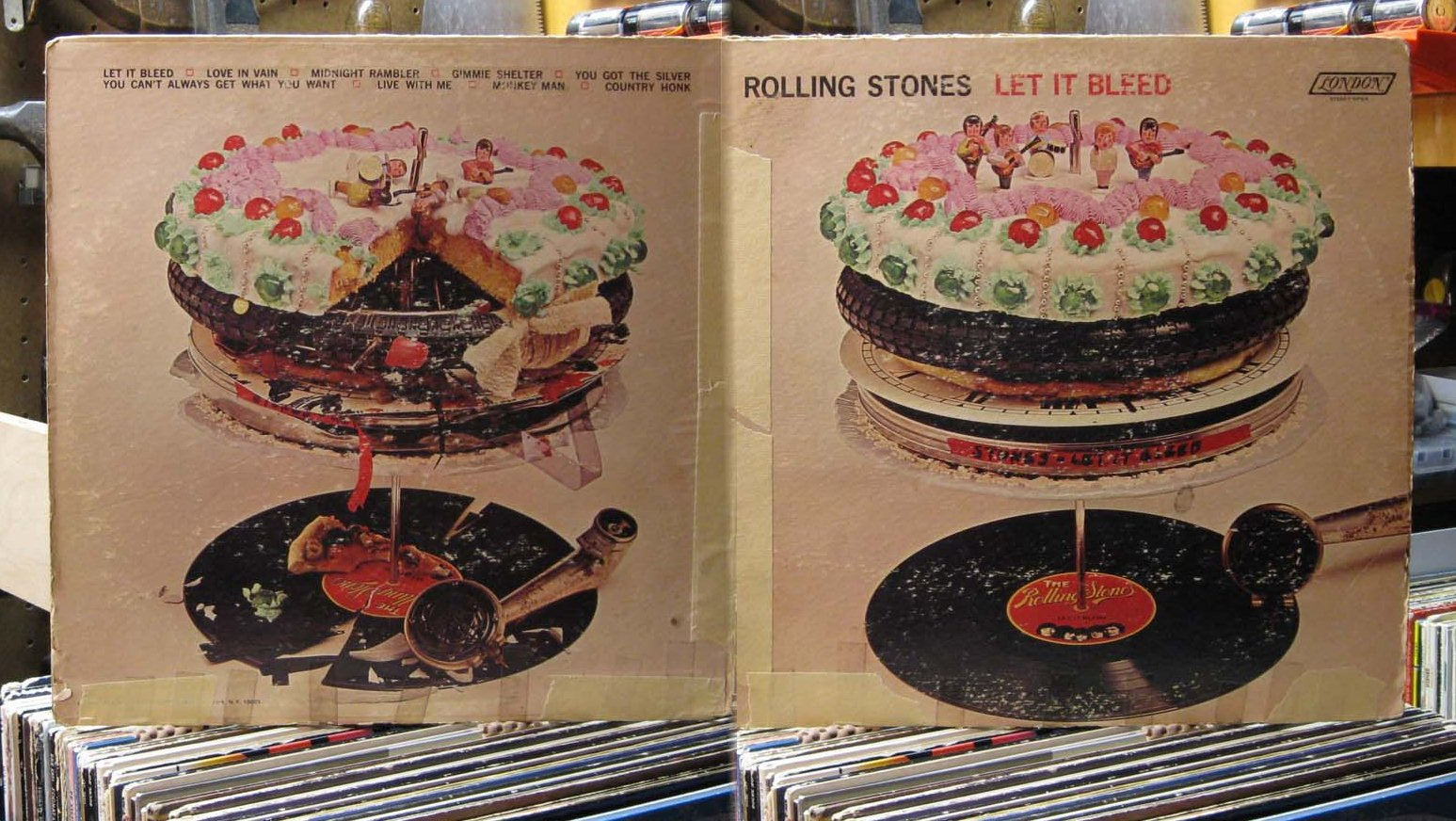 Curtis Collects Vinyl Records Let It Bleed First Of