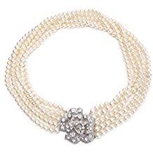 Desayuno de Audrey Hepburn en Tiffany's Pearl Collar Five Strand Flapper Costume Jewelry