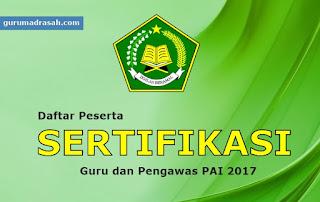 peserta sertifikasi 2017