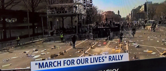 LITTLE HOGGS: #MarchForOurLives Student Protesters Leave Their Trash for Someone Else to Clean Up