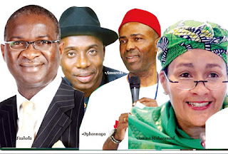 Some of the newly inaugurated ministers in Nigeria
