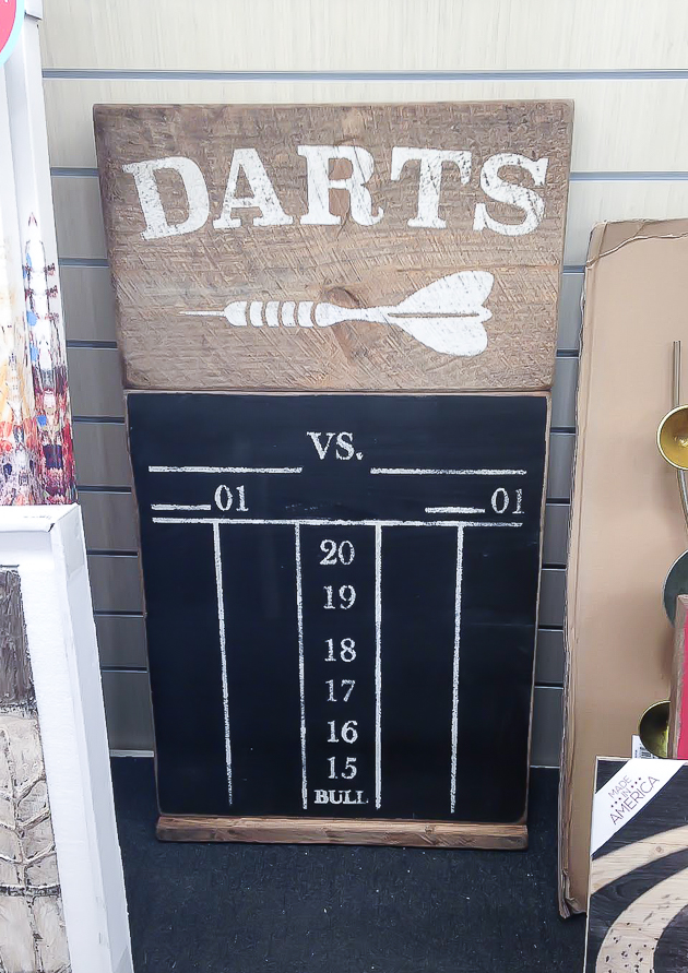 Wood Darts scoreboard