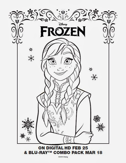 Disney Frozen Free Printable Anna, Elsa and Olaf Coloring