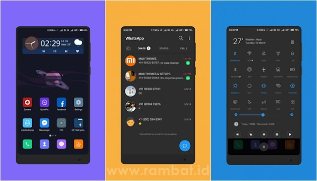 Space And Dark untuk MIUI 9