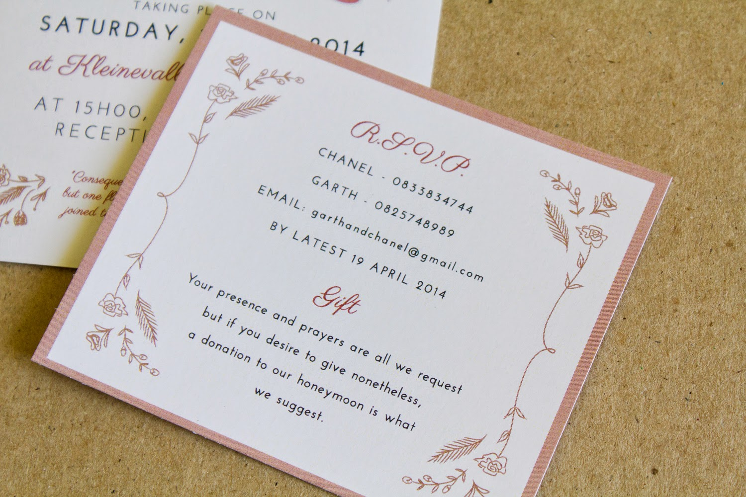 Bells And Whistles Chanel And Garth S Wedding Invitation