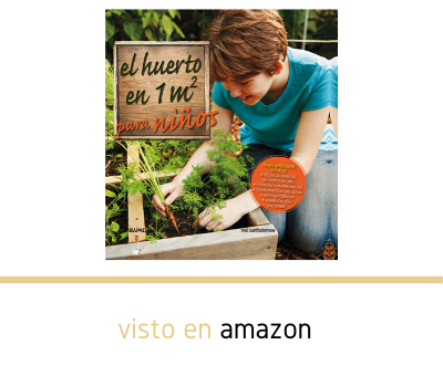 El huerto en 1 M2 para niños, libro en Amazon