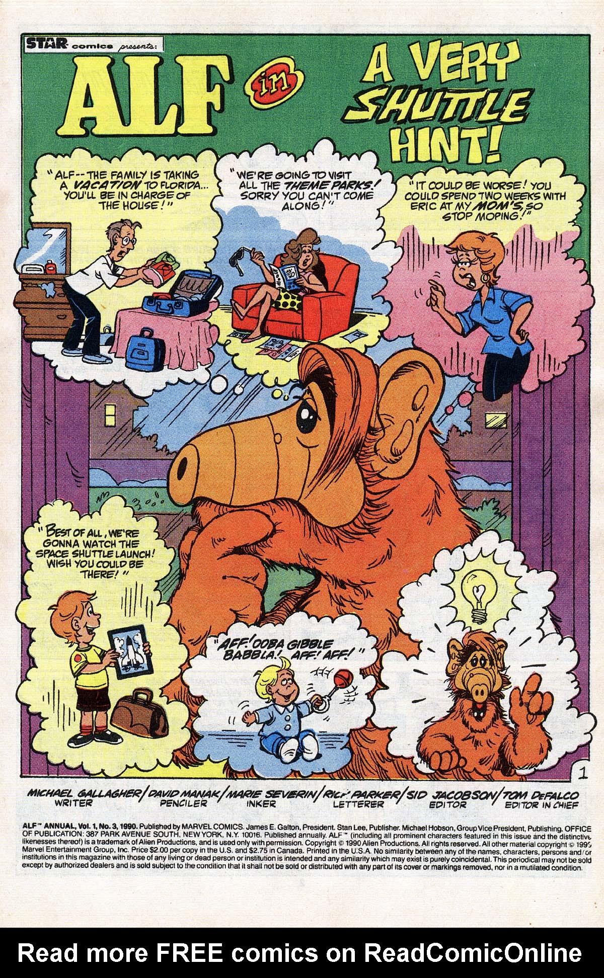 Read online ALF comic -  Issue # _Annual 3 - 2