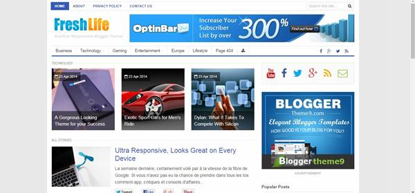 50 Free Full SEO Responsive And Surpassing Blogger Templates