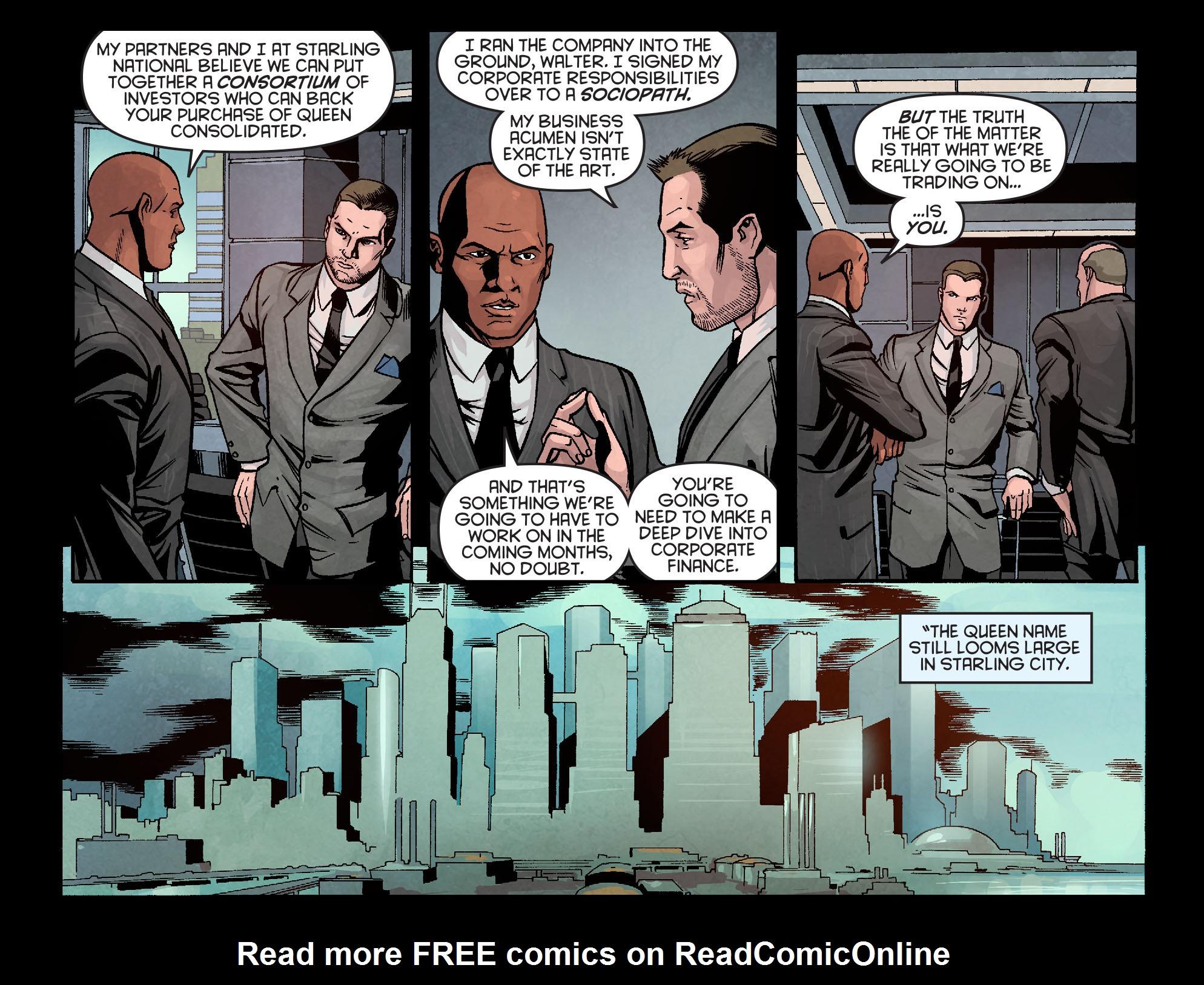 Read online Arrow: Season 2.5 [I] comic -  Issue #10 - 7