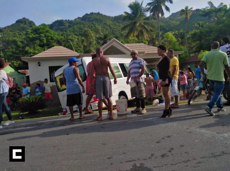 Accidente deja 10 heridos en la carretera Sánchez a Samaná