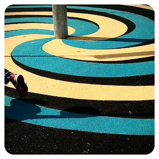 Swirly tarmac at Homefield Park