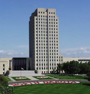 Photo of North Dakota capitol building