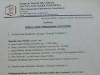 SKB PD IAI Jakarta Tetapkan Imbal Jasa Apoteker