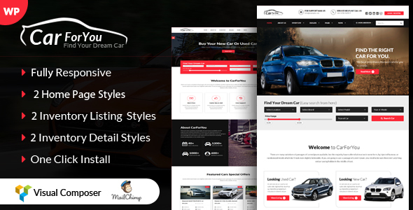 CarForYou themeforest wordpress theme download