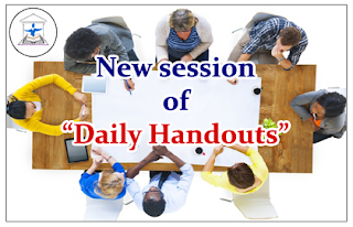 "New Session of ""Daily Handouts"""