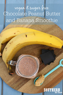 Chunky Monkey Chocolate Peanut Butter and Banana Smoothie Recipe
