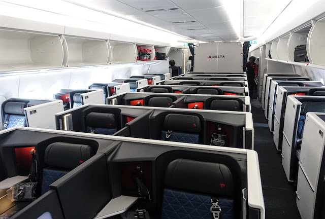 Delta Airlines A350-900 Business Class Seating Layout