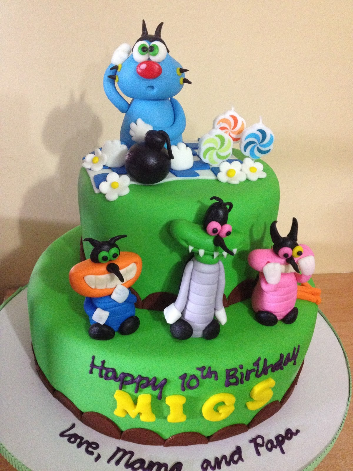 Oggy and the Cockroaches Cake Kiddie Affairs Custom Cakes