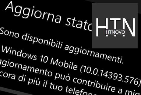 Windows 10 Mobile si aggiorna e arriva alla Build 14393.576 HTNovo