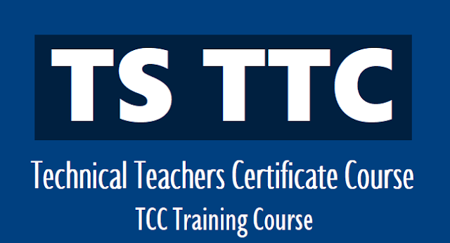 TS TCC time table 2021, ttc exam hall ticket download