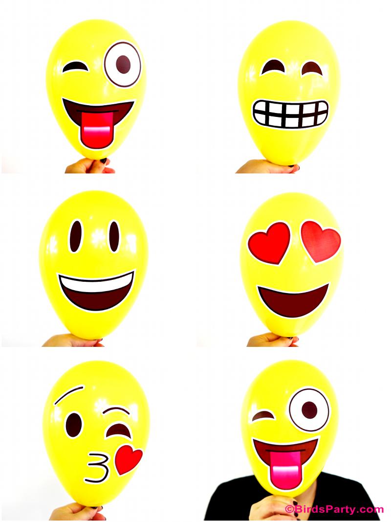 Emoji Party DIY Photobooth