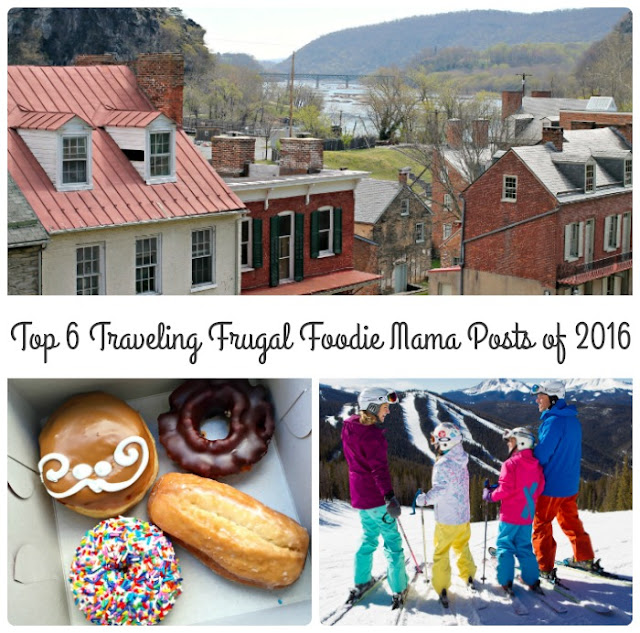 From travel tips to historical destinations to amazing family dining, here are the Top 6 Traveling Frugal Foodie Mama Posts of 2016 as clicked on & shared by you.