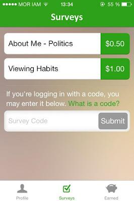 أندرويد أيفون الهاتف الذكي ربح المال من مواقع استطلاعات الرأي Surveys On The Go Get paid for sharing your opinions