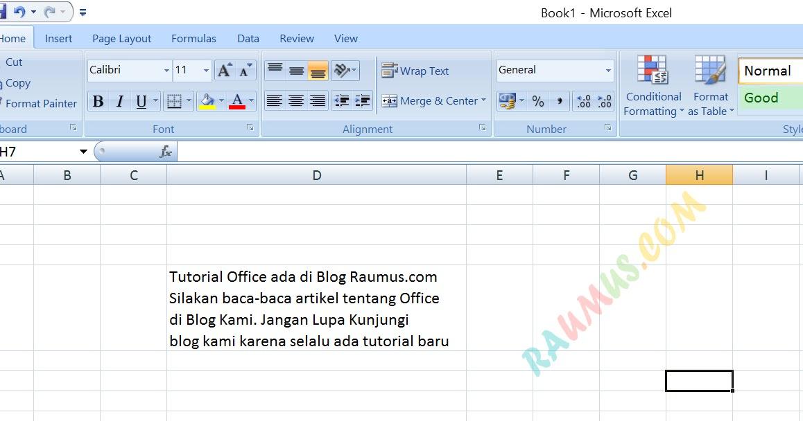 Cara Membuat Dua Baris Dalam Satu Sel di MS Excel Dengan ...