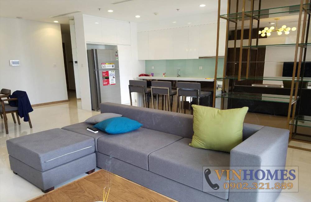 Bán căn hộ 3PN tòa nhà The Central 3 - sofa màu ghi