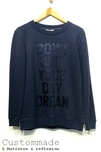 Sweat bleu Custommade