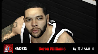 NBA 2K13 Mods Deron Williams Cyber Face