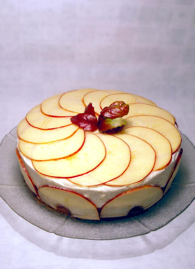 torcik jabłkowy z musem jabłkowym