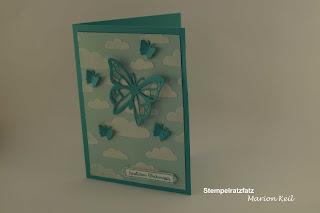 Karte mit Strukturpaste von Stampin´ Up! Schmetterling