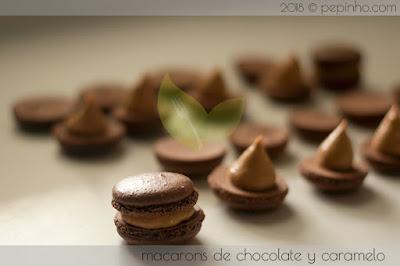 Macarons de chocolate y caramelo