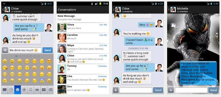 Chomp SMS أفضل تطبيق بديل ل تطبيق المراسلات الموجود بالفعل على جهاز الأندرويد الخاص بك