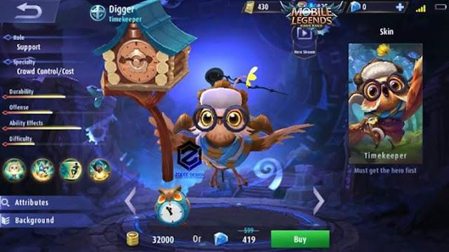 Hero Baru Mobile Legends - Digger