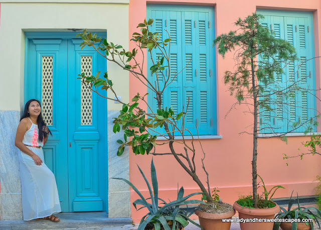 one of the colorful houses in Plaka