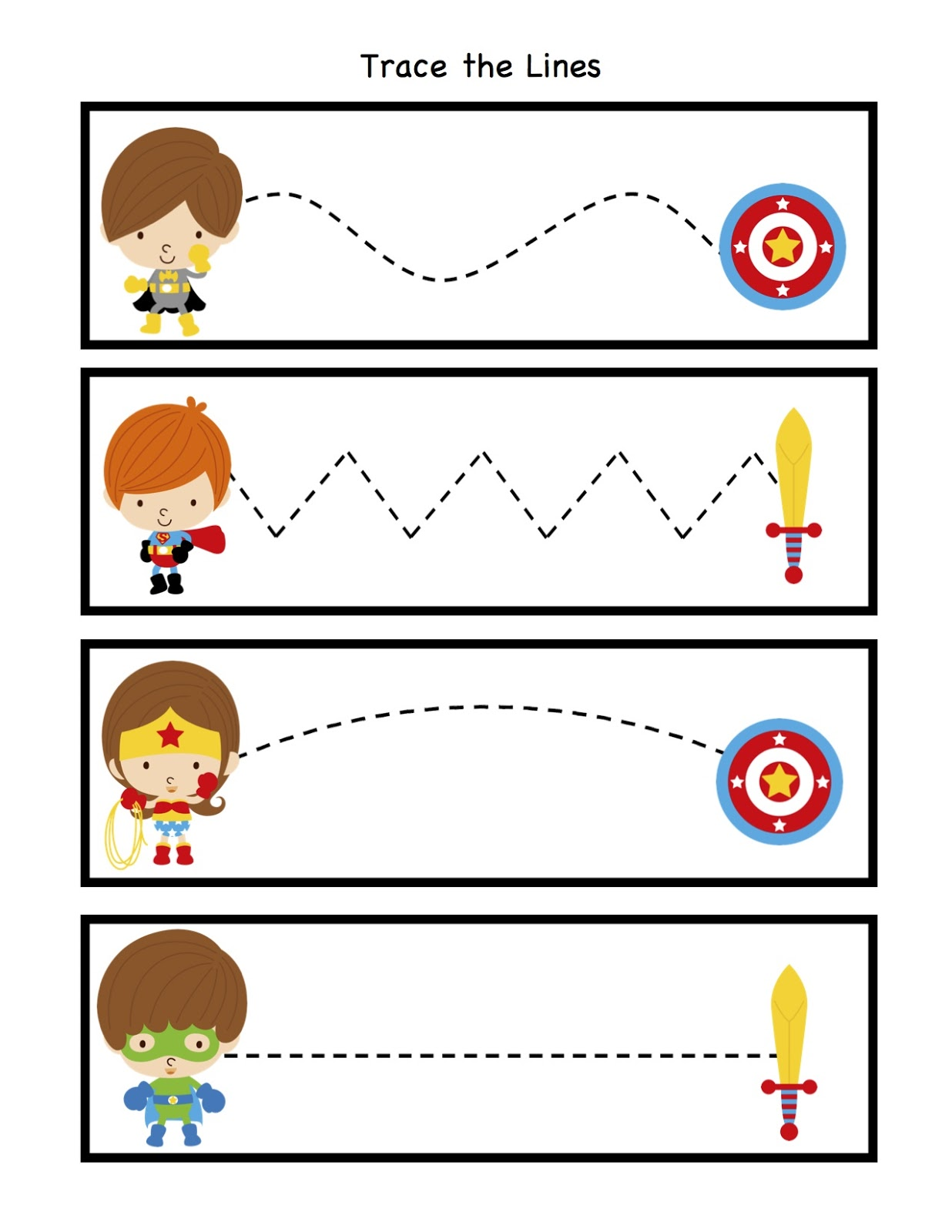 Little Super Heroes To The Rescue Preschool Printables