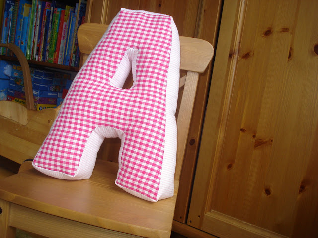 Sew and the City: Letter Shaped Cushions