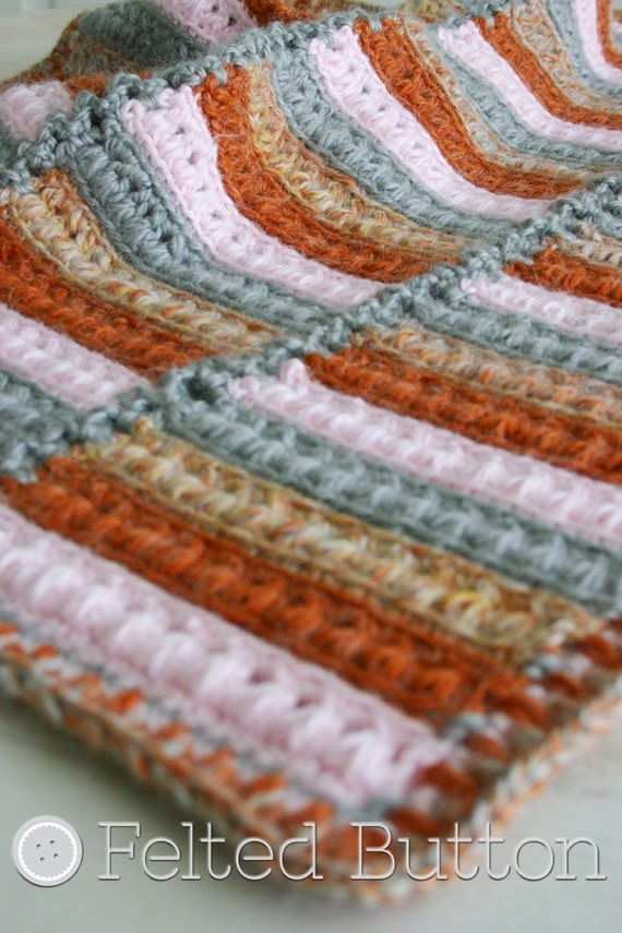 Arlington Blanket (crochet pattern by Susan Carlson of Felted Button)