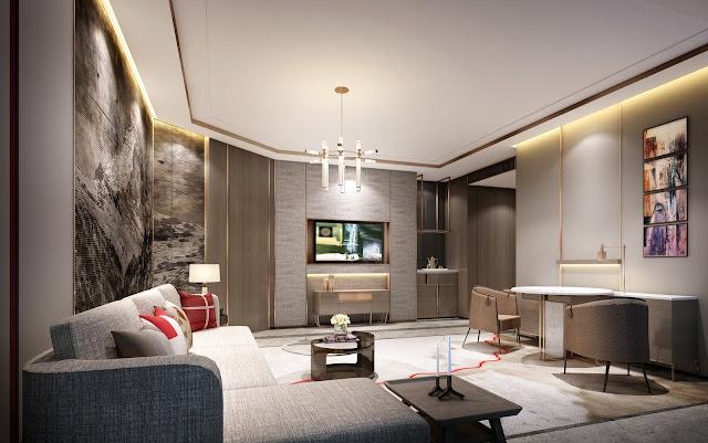 Phòng khách căn hộ dự án Swisstouches La Luna Nha Trang