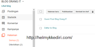 Cara submit halaman statis blogger kesearch console