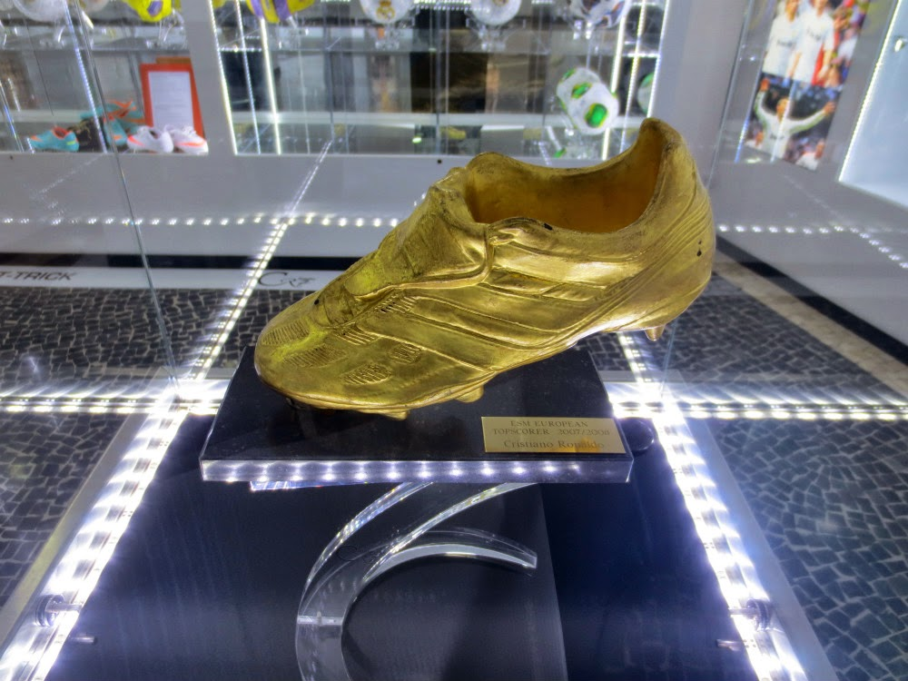 Cristiano Ronaldo Golden boot in CR7 Museum